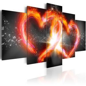 Ljuddämpande tavla - Flame of love - SilentSwede