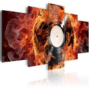 Ljuddämpande tavla - Vinyl on fire - SilentSwede