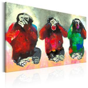 Ljuddämpande & ljudabsorberande tavla - Three Wise Monkeys - SilentSwede