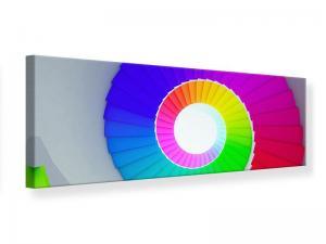 Ljudabsorberande panorama tavla - Colorful Spiral Staircase 3D - SilentSwede