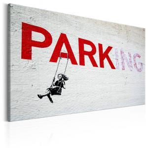 Ljuddämpande & ljudabsorberande tavla - Parking Girl Swing by Banksy - SilentSwede