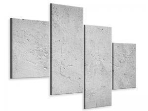 Ljudabsorberande 4 delad tavla-Concrete - SilentSwede