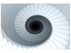 Ljudabsorberande tavla - 3D Spiral Staircase - SilentSwede