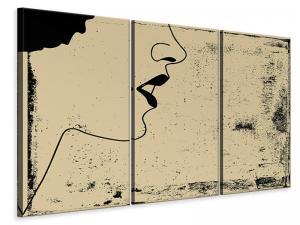 Ljuddämpande tavla - Woman Portrait In Grunge Style - SilentSwede