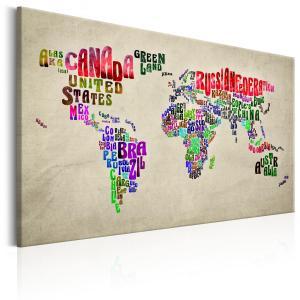 Ljuddämpande tavla - World Map: World Tour - SilentSwede