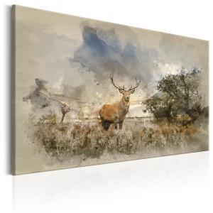 Ljuddämpande & ljudabsorberande tavla - Deer in Field - SilentSwede