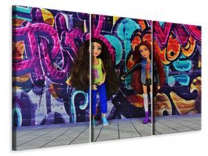 Ljuddämpande tavla - Graffiti dolls - SilentSwede