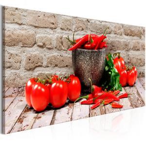 Ljuddämpande & ljudabsorberande tavla - Red Vegetables Brick - SilentSwede
