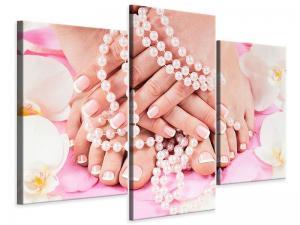 Ljudabsorberande 3 delad tavla-Hands And Feet - SilentSwede
