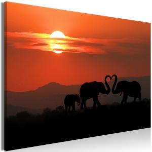 Ljuddämpande & ljudabsorberande tavla - Elephants in Love - SilentSwede
