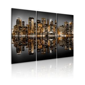 Ljuddämpande tavla - Sea of lights - NYC - SilentSwede