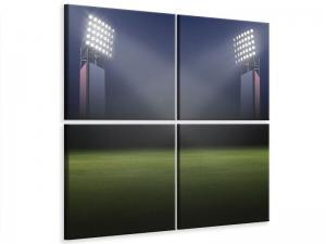 Ljudabsorberande 4 delad tavla - Soccer Stadium - SilentSwede