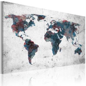 Ljuddämpande & ljudabsorberande tavla - Oupptäckta kontinenter - SilentSwede