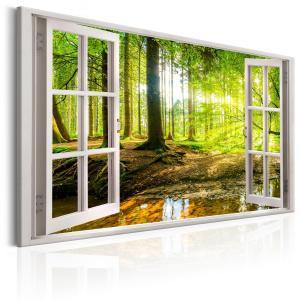 Ljuddämpande tavla - Window: View on Forest - SilentSwede
