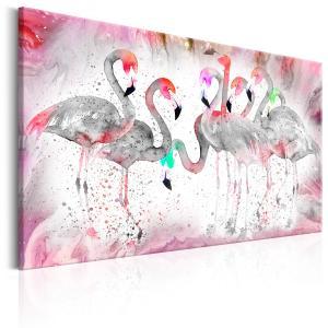 Ljuddämpande & ljudabsorberande tavla - Flamingoes Family - SilentSwede