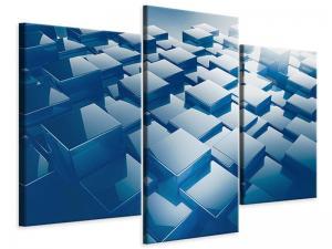 Ljudabsorberande 3 delad tavla-3D-Cubes - SilentSwede
