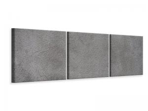 Ljudabsorberande panorama 3 delad tavla - Concrete In Dark Grey - SilentSwede