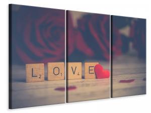 Ljuddämpande tavla - Love in letters - SilentSwede