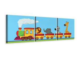 Ljuddämpande tavla - Animal Train - SilentSwede