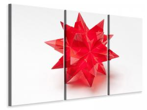 Ljuddämpande tavla - Red christmas star - SilentSwede