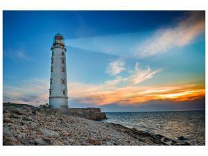 Ljudabsorberande tavla - Sunset At The Lighthouse - SilentSwede