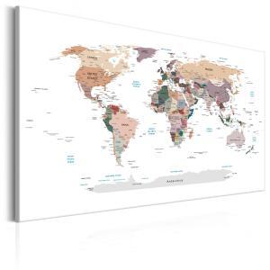 Ljuddämpande & ljudabsorberande tavla - World Map: Where Today? - SilentSwede