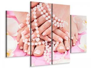 Ljudabsorberande 4 delad tavla-Hands And Feet - SilentSwede