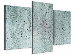Ljudabsorberande modern 3 delad tavla - Concrete Gray - SilentSwede