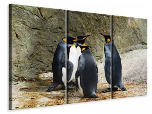 Ljuddämpande tavla - King penguins - SilentSwede