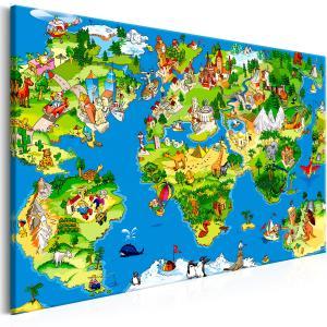 Ljuddämpande tavla - Children's Map - SilentSwede