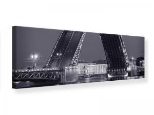 Ljudabsorberande panorama tavla - Bascule Bridge At Night - SilentSwede
