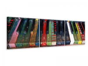 Ljuddämpande tavla - Colorful piano - SilentSwede