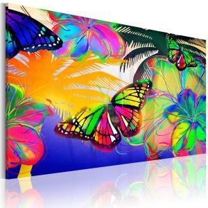 Ljuddämpande & ljudabsorberande tavla - Exotic butterflies - SilentSwede