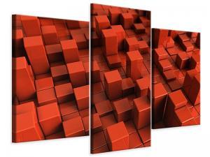 Ljudabsorberande 3 delad tavla-3D Square - SilentSwede