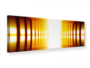 Ljudabsorberande panorama tavla - Abstract Golden Room - SilentSwede