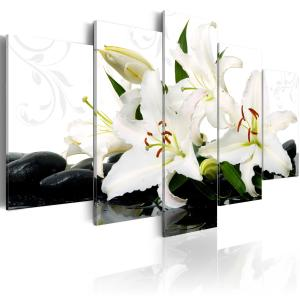 Ljuddämpande tavla - Lilies and zen stones - SilentSwede