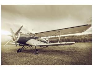 Ljudabsorberande tavla - Nostalgic Aircraft In Retro Style - SilentSwede