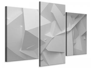 Ljudabsorberande 3 delad tavla-3D-Grid - SilentSwede