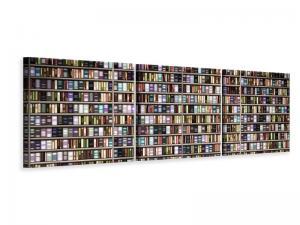 Ljudabsorberande panorama 3 delad tavla - Bookshelf - SilentSwede