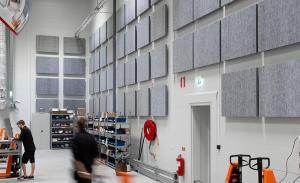 ljudabsorbent till vägg och tak, Lätt, 0mm distans, 50mm distans, vit, svart, grå, brun