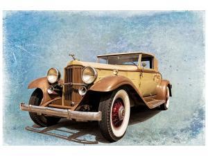Ljudabsorberande tavla - Nostalgic Vintage Car - SilentSwede