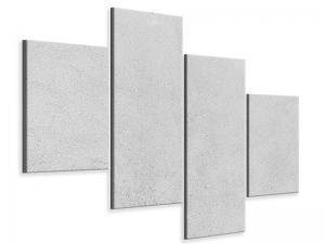 Ljudabsorberande modern 4 delad tavla - Concrete In Light Gray - SilentSwede