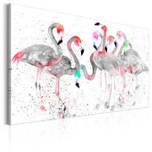 Ljuddämpande & ljudabsorberande tavla - Flamingoes Dance - SilentSwede