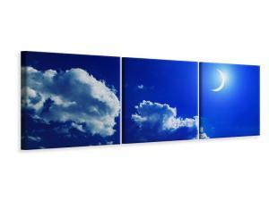 Ljudabsorberande panorama 3 delad tavla - The Moon - SilentSwede