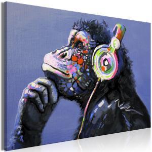 Ljuddämpande & ljudabsorberande tavla - Musical Monkey - SilentSwede