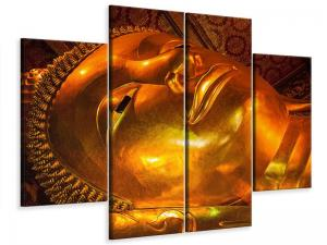 Ljudabsorberande 4 delad tavla-Horizontal Buddha - SilentSwede
