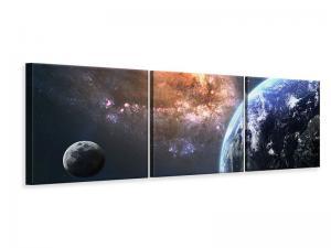 Ljudabsorberande panorama 3 delad tavla - Universus - SilentSwede