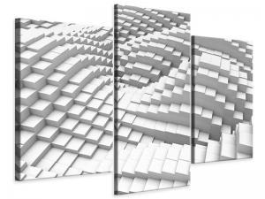 Ljudabsorberande 3 delad tavla-3D Elements - SilentSwede