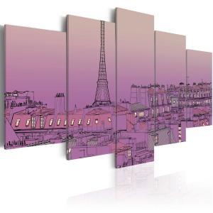 Ljuddämpande tavla - Lavender sunrise over Paris - SilentSwede