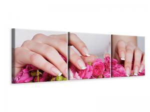 Ljudabsorberande panorama 3 delad tavla - Hands Bed Of Ros - SilentSwede